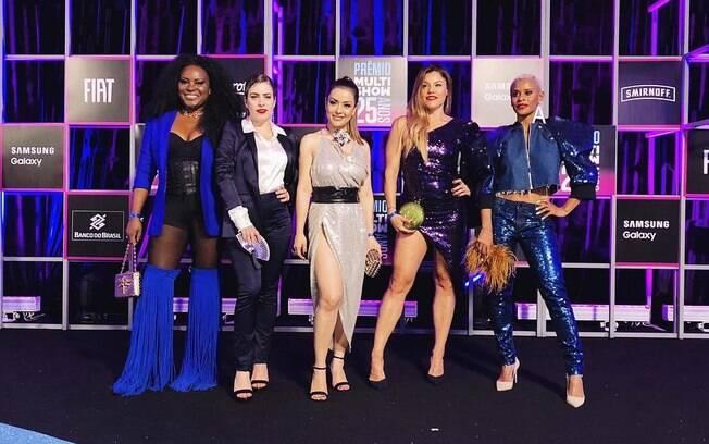 Rouge fez apresentação poderosa no Prêmio Multishow, levou um troféu para casa e ainda homenageou Marielle Franco