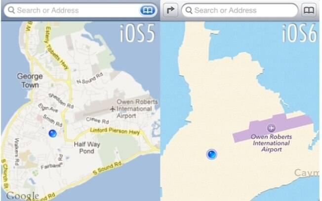 Antes e depois: troca do Google Maps por aplicativo da Apple diminui qualidade dos mapas no iPhone