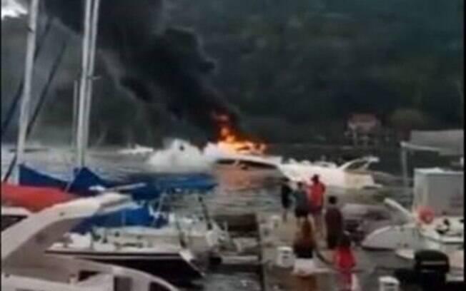 Lancha explodiu no Rio de Janeiro