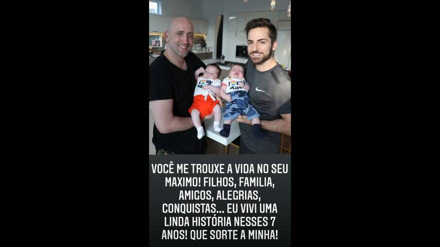 Paulo Gustavo, Thales Bretas e os filhos