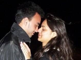 Sarah com o namorado André Mendes: declaração de amor em apenas dois dias