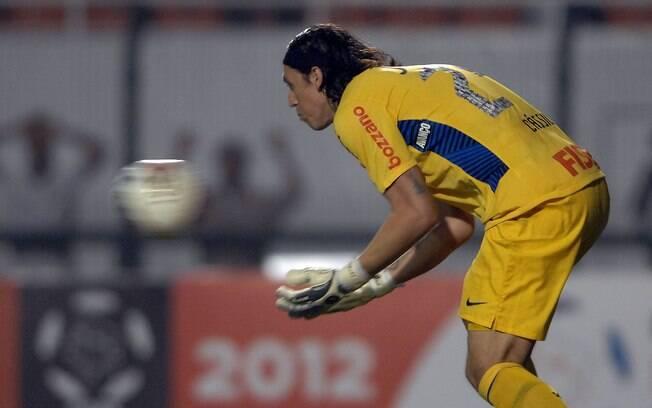 Cássio teve mais uma atuação tranquila no gol  do Corinthians