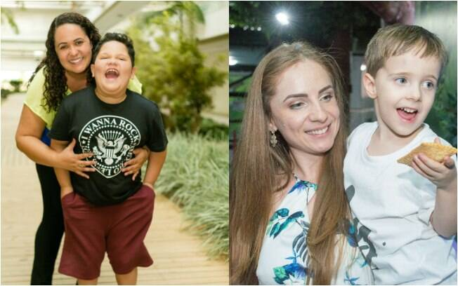 Mães de crianças autistas, Josiane (à direita) e Deisi (à esquerda) lutaram pela inclusão escolar dos filhos