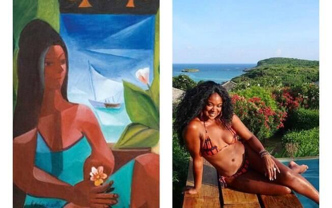 A vida imita a arte? Confira fotos de famosos que parecem obras de arte