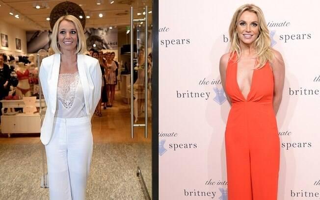 Britney Spears: com o novo visual e com o antigo cabelão