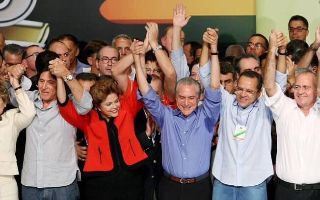 Em 2010, Lula e o PT preferiram outro nome do PMDB para ser vice de Dilma; no entanto, o partido insistiu na indicação de seu presidente nacional, Michel Temer. Foto: Arquivo/Estadão Conteúdo - 12.06.2010