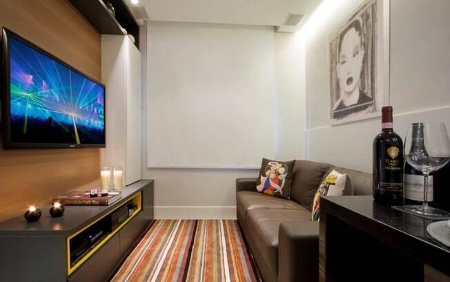 Apartamento de 35 m tem ares modernos e cozinha gourmet for Sala de 9 metros quadrados