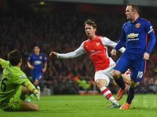 Wayne Rooney selou vitória do United sobre o rival Arsenal