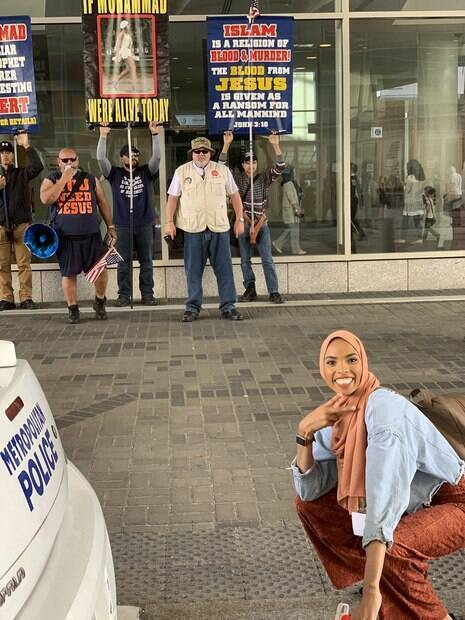 muçulmana foto protestos