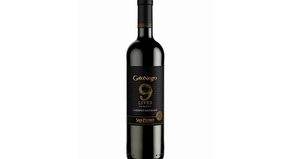 Vinho chileno Gato Negro 9 Lives