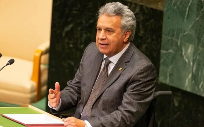 Presidente do Equador, Lenín Moreno, em assembleia das Nações Unidas