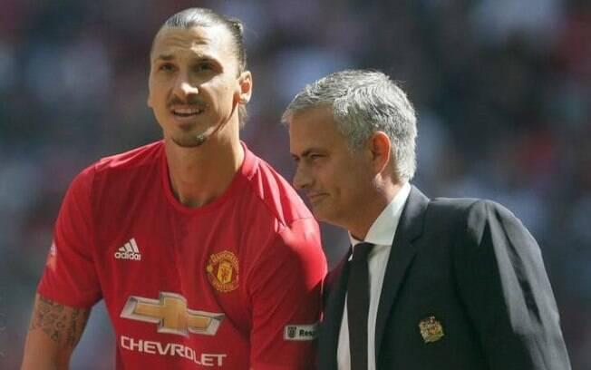 Zlatan Ibrahimovic e José Mourinho já trabalharam juntos duas vezes, a última no United, o que pode voltar a acontecer