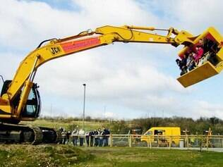 O Spindizzy é escavadeira gigante que gira em alta velocidade