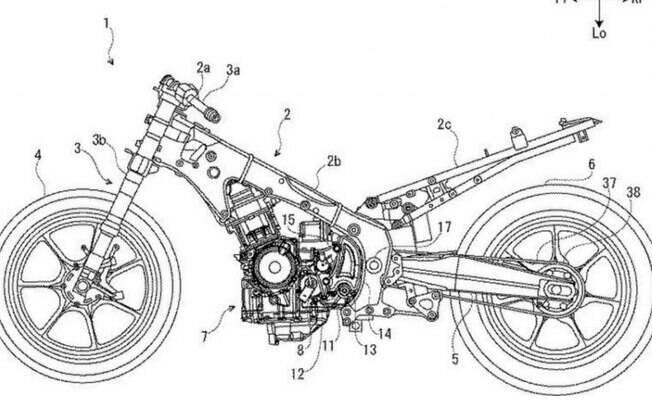 Imagem de patente mostra suposta estrutura da nova Suzuki Hayabusa