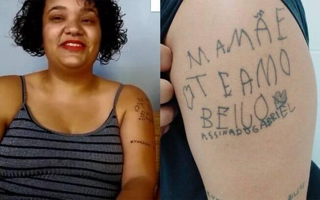 Geovana Soares tatua meme que deixou o filho famosos