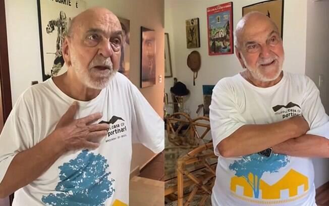 Lima Duarte se emociona em vídeo homenageando Eduardo Galvão, Nicete Bruno e Marco Ricca