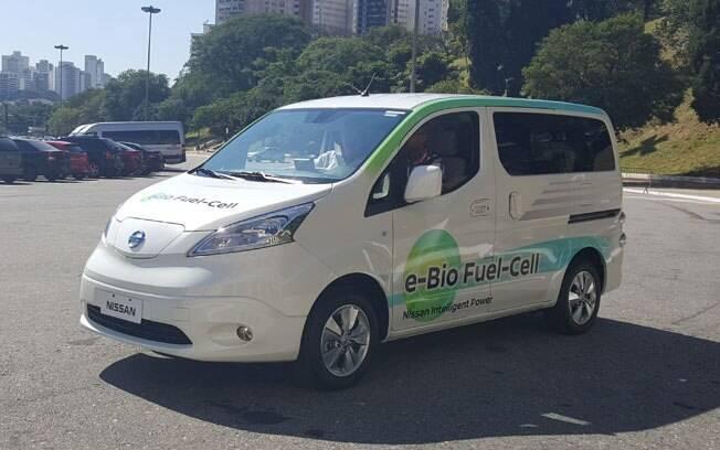 Com 30 litros de etanol, a Nissan  NV200 SOFC pode rodar por mais de 600 km, emitindo uma quantidade mínima de CO2