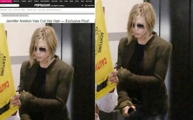 Jennifer Aniston e seu novo corte de cabelo, consequência de um alisamento que não deu certo