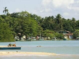 A vila de Caraíva é muito tranquila
