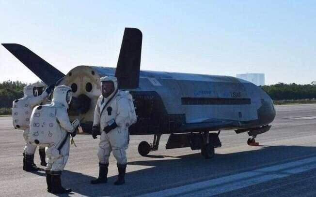 X-37B em solo estadunidense.