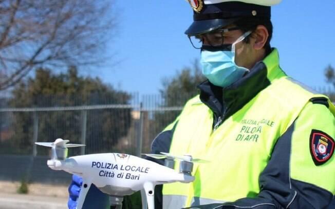 Cidades italianas contarão com a ajuda de drones para monitorar a população durante crise