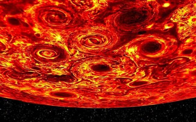 Nasa expõe que Júpiter é composto por mistura de hidrogênio e hélio, e possui 96% do núcleo permeado por