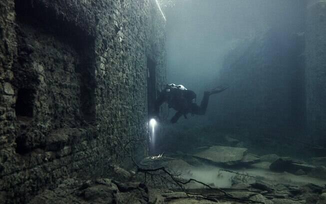 Mergulhadores não recomendam o mergulho nos arredores da Prisão Rummu. Foto: Divulgação