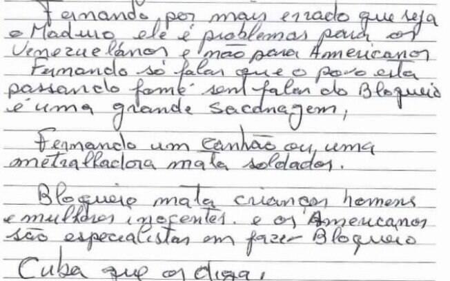 Carta de Lula traz mensagem crítica aos Estados Unidos e relembra Cuba