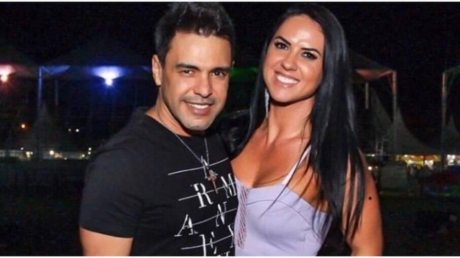 Graciele Lacerda mostra tatuagem para Zezé Di Camargo nas partes íntimas