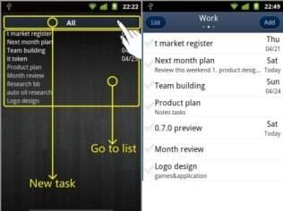 gTasks para Android