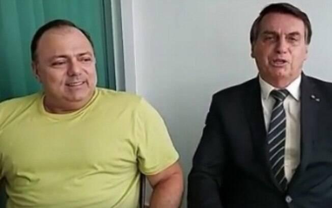 Bolsonaro e Pazuello gravaram um vídeo juntos para voltar atrás sobre compra de vacinas para Convid-19