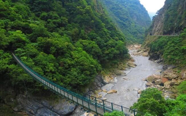 O Cânion Taroko está entre as principais atrações de Taiwan