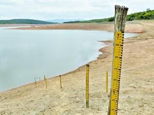 Níveis críticos.   Sistema Serra Azul, em Juatuba, na região metropolitana de BH, estava com nível de 7,7% na última sexta-feira, dia 13