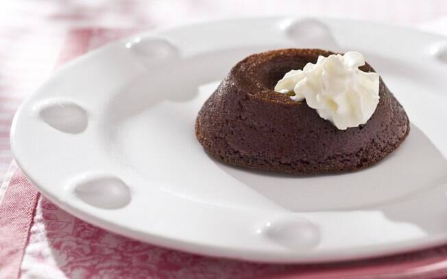 Foto da receita Minipudim de chocolate pronta.