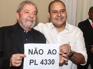 Ex-presidente Lula também se engajou contra projeto da terceirização que tramita no Congresso