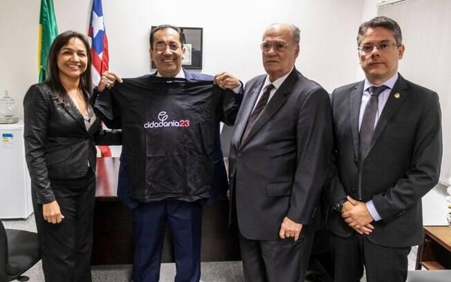 Jorge Kajuru anunciou a sua filiação ao Cidadania