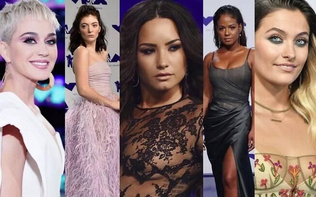 Enquanto os prêmios do VMA eram distribuídos, maquiagens usadas pelas celebridades serviam de inspiração
