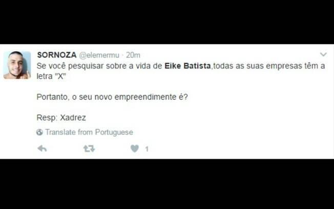Nem mesmo o fato de as empresas de Eike Batista terem a letra X no nome foi perdoado na internet
