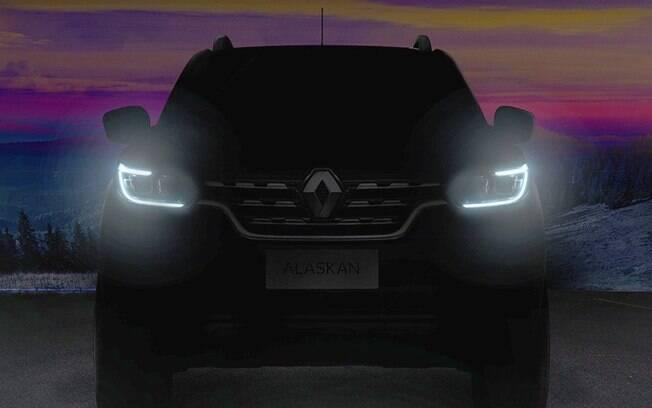Renault divulga o primeiro teaser oficial da versão de produção da picape Alaskan