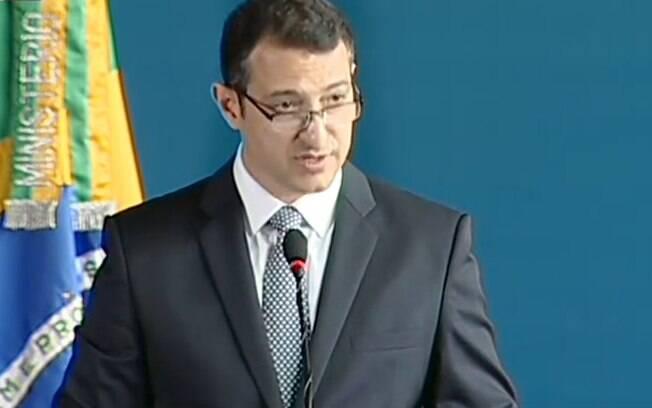 Rogério Galloro durante cerimônia de posse na direção-geral da Polícia Federal