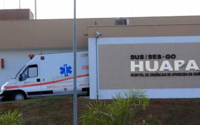 O homem foragido estava internado no Hospital de Urgências de Aparecida de Goiânia (Huapa)