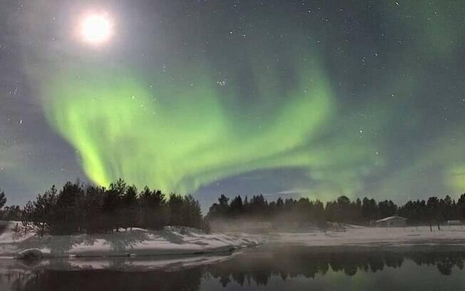 Uma das condições para uma boa visão das luzes é o céu livre de nuvens
