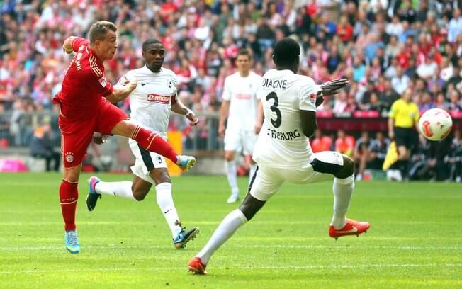 Na vitória por 1 a 0 sobre o Freiburg, na 31ª  rodada, o Bayern atingiu os 84 pontos e quebrou o  recorde de pontuação do Campeonato Alemão