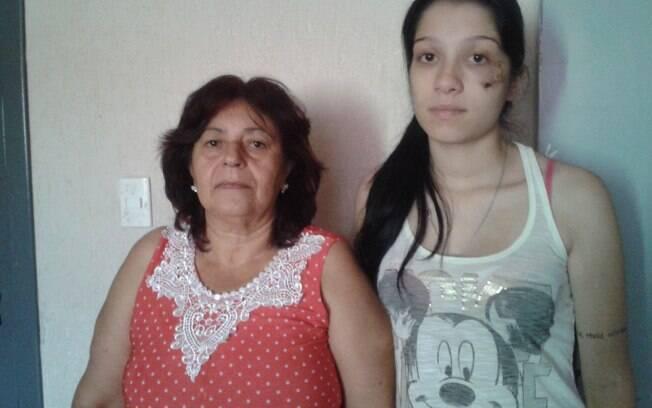 Gercina e Gabriela querem que policial seja punido