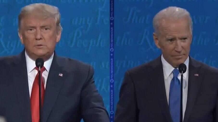 Donald Trump e o presidente dos Estados Unidos, Joe Biden