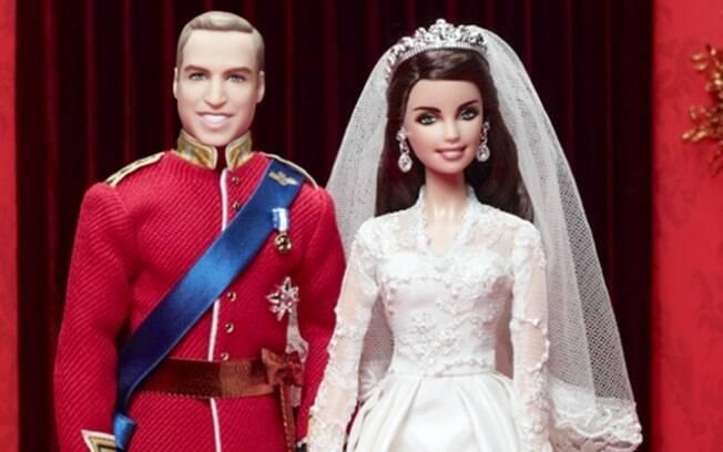 William e Kate em versão boneco: modelos iguais ao do casamento real