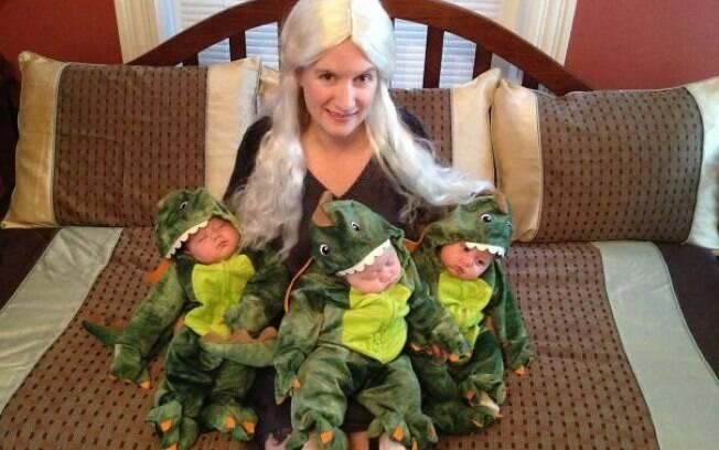 Daenerys Targaryen (Fantasias de pais e filhos pra usar no Dia das Bruxas)