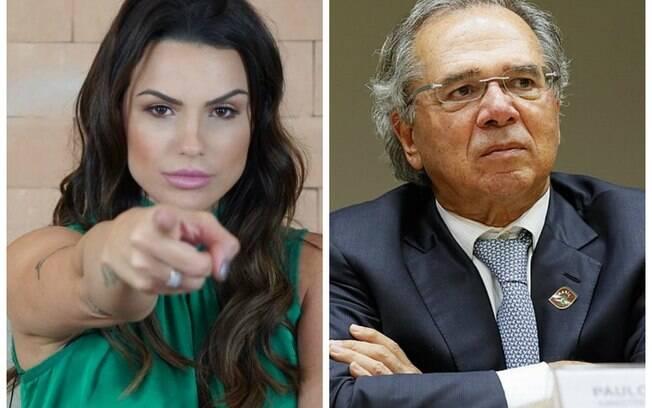 Carol Dias e Paulo Guedes