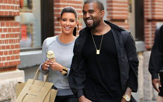 Kim Kardashian e Kanye West: passeio romântico pelas ruas de Nova York