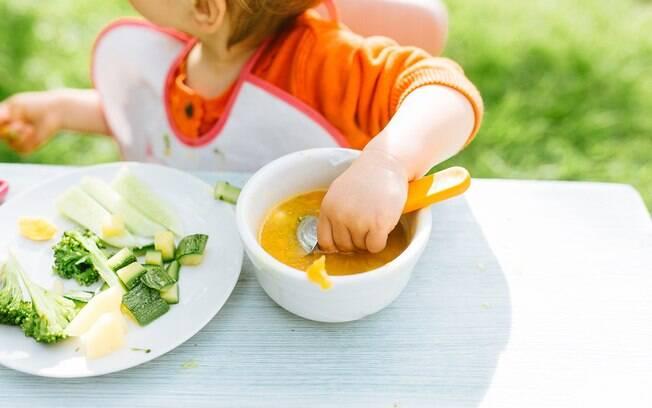 Alimentos sólidos devem começar a ser introduzidos na dieta dos pequenos após os seis meses de idade
